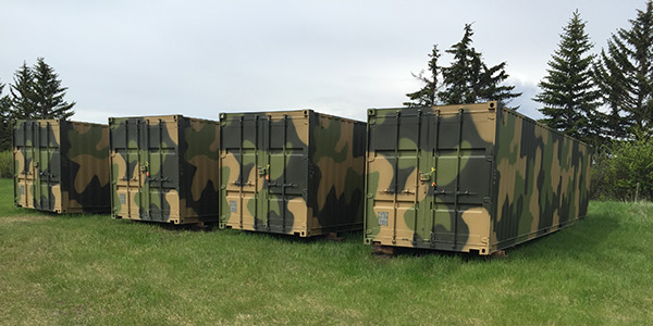 camo containers